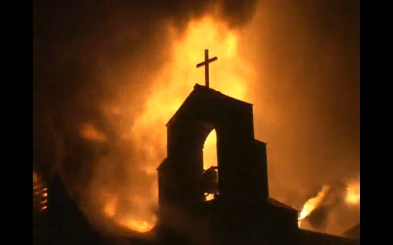 Many christian and catholic churches in egypt are being burned and are
