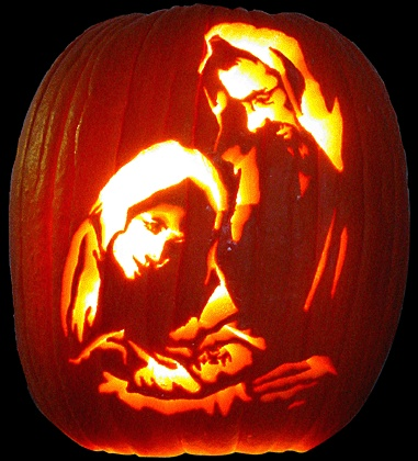 Nativity Pumpkin