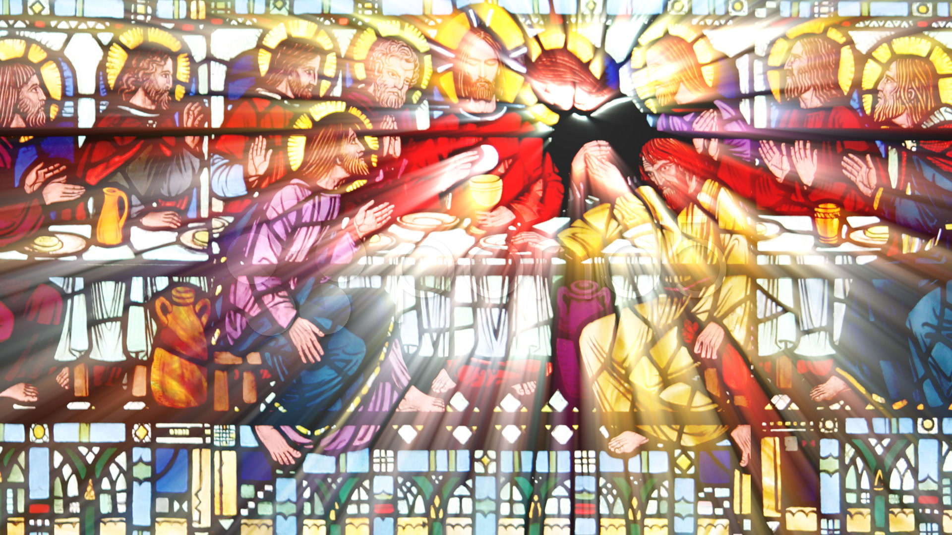 stained-glass-last-supper-loop-footage-000724611_prevstill