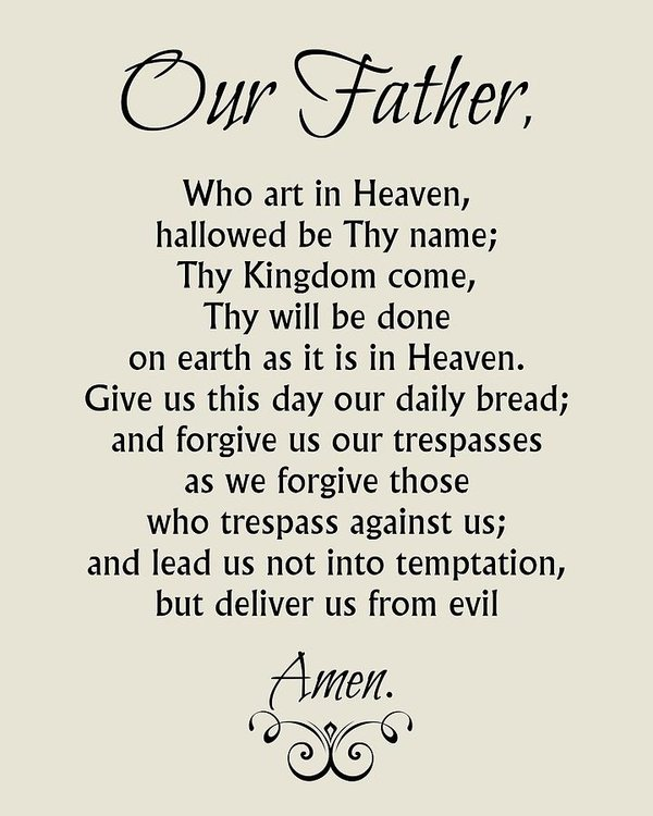 our-father-prayer-catholic-lords-prayer-classically-printed